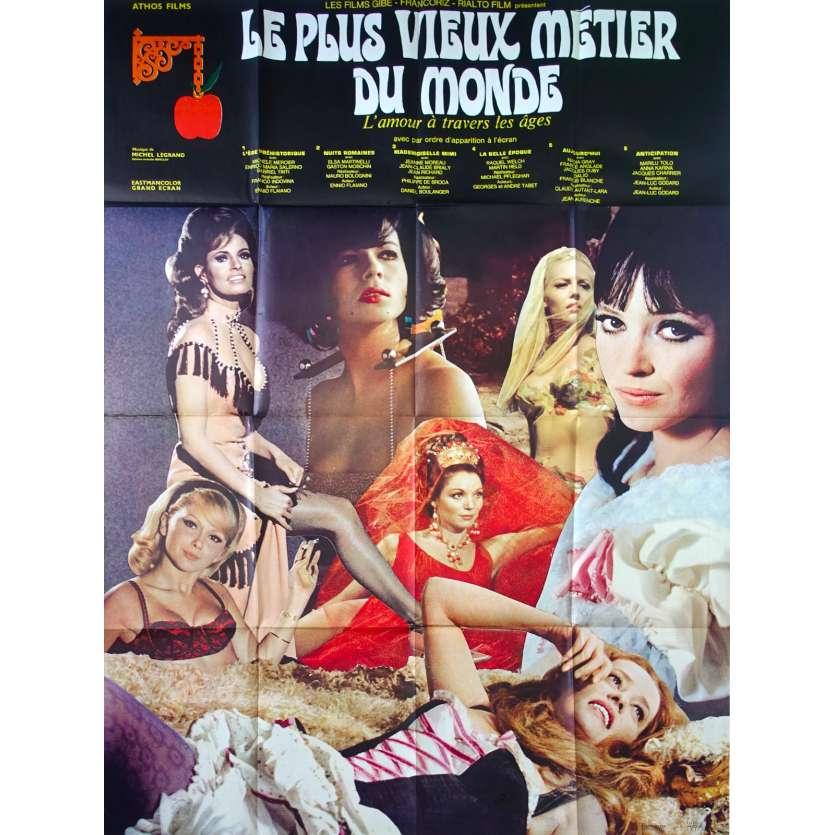 LE PLUS VIEUX METIER DU MONDE Affiche de film 120x160 - 1967 - Godard, Raquel Welch