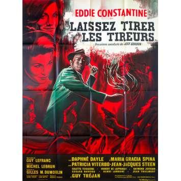 LAISSEZ TIRER LES TIREURS French Movie Poster 47x63 - 1964 - Guy Lefranc, Eddie Constantine