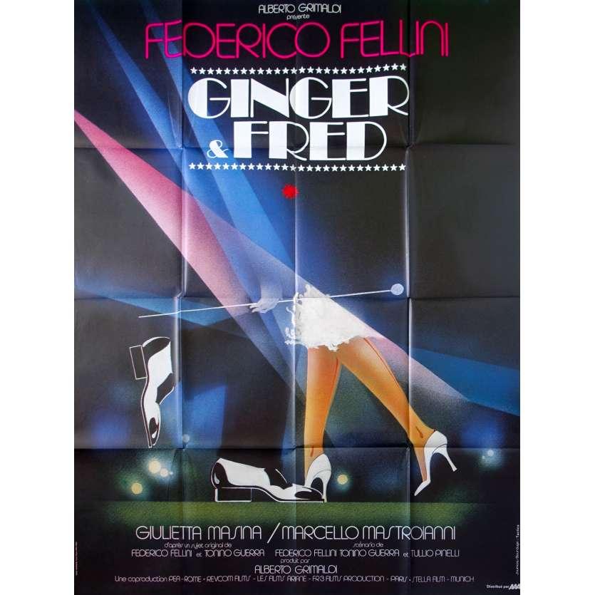 GINGER ET FRED Affiche de film 120x160 - 1985- Federico Fellini, Mastroiani