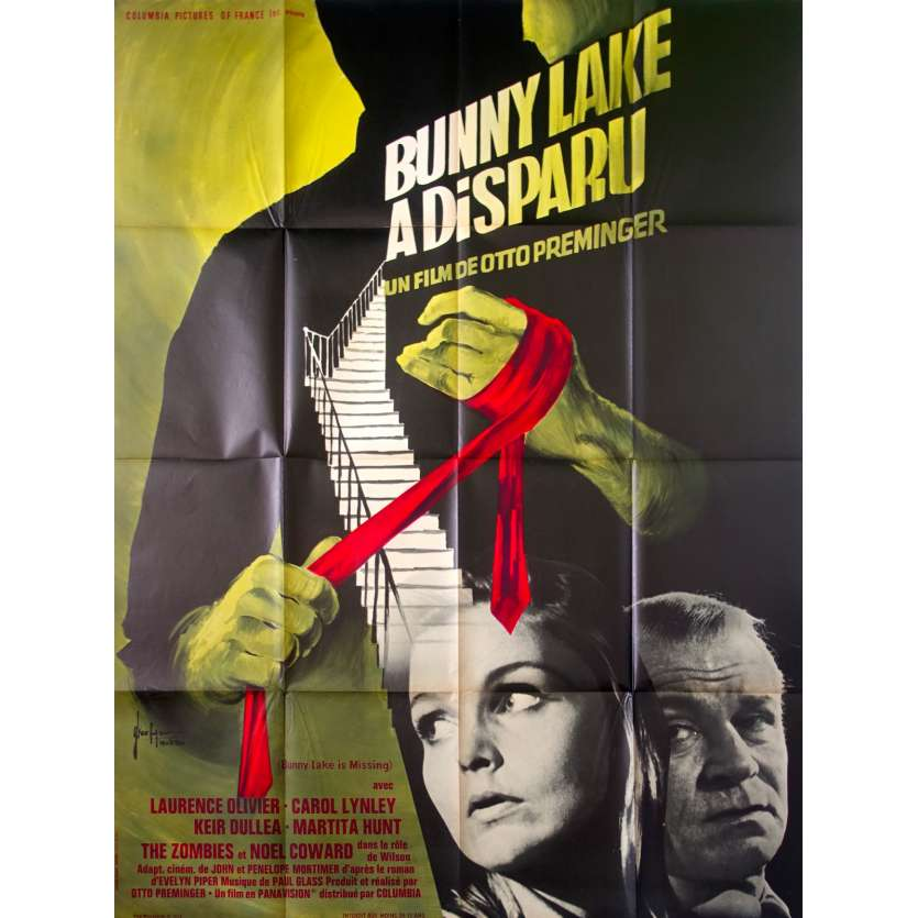 BUNNY LAKE IS MISSING Movie Poster - Original French One Panel