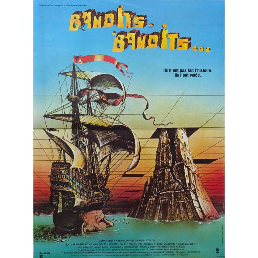 TIME BANDITS Movie Poster 15x21 in. French - 1981 - Terry Gilliam, Sean Connery