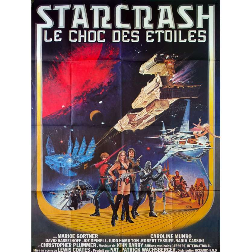 STARCRASH French Movie Poster 47x63- 1978 - Luigi Cozzi, Caroline Munro