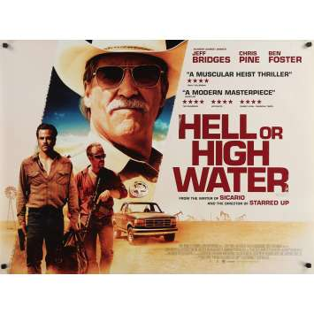 HELL OR HIGH WATER Original Movie Poster - 30x40 in. - 2016 - David Mackenzie, Jeff Bridges