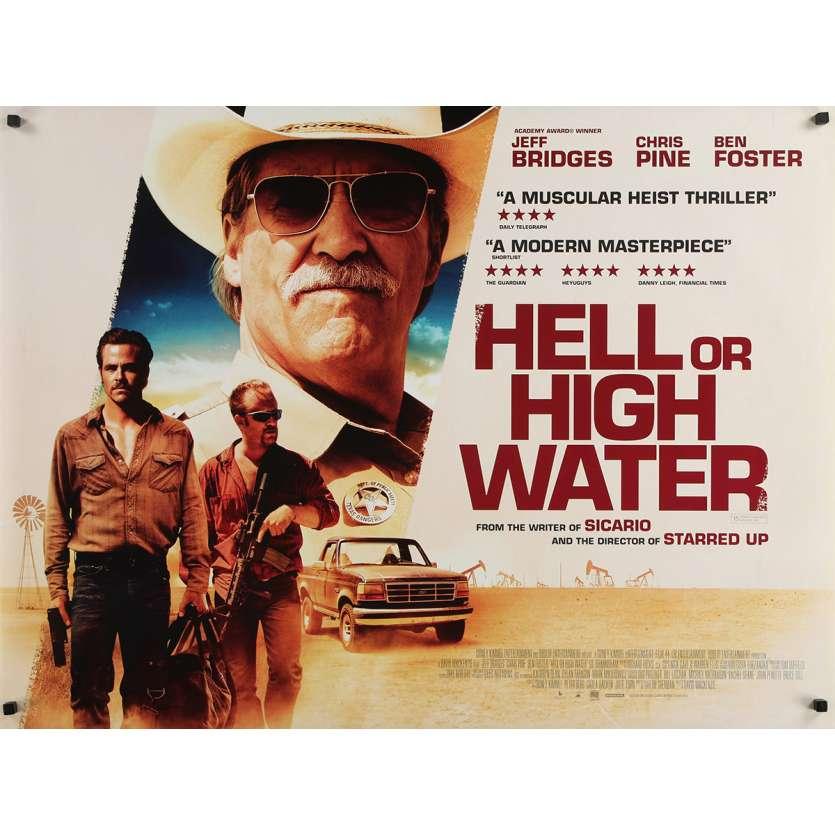 HELL OR HIGH WATER Original Movie Poster - 30x40 in. - 2016 - David Mackenzie, Jeff Bridges
