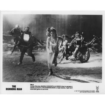 RUNNING MAN Photo de presse RM-8 - 20x25 cm. - 1987 - Arnold Schwarzenegger, Paul Michael Glaser