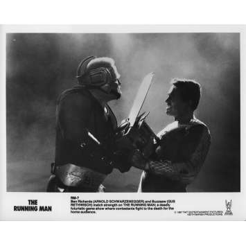 RUNNING MAN Photo de presse RM-7 - 20x25 cm. - 1987 - Arnold Schwarzenegger, Paul Michael Glaser