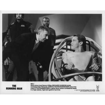 RUNNING MAN Photo de presse RM-4 - 20x25 cm. - 1987 - Arnold Schwarzenegger, Paul Michael Glaser