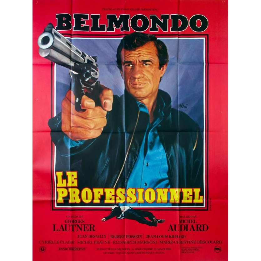 THE PROFESSIONAL Original Movie Poster - 47x63 in. - 1981 - Georges Lautner, Jean-Paul Belmondo