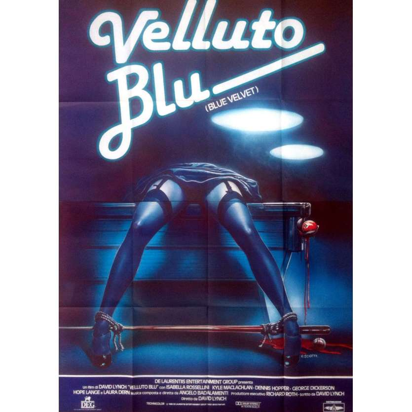 BLUE VELVET Affiche de film 100x140 - 1986 - Isabella Rosselini, David Lynch