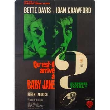WHAT EVER HAPPENED TO BABY JANE Original Movie Poster - 47x63 in. - 1962 - Robert Aldrich, Bette Davis, Joan Crawford