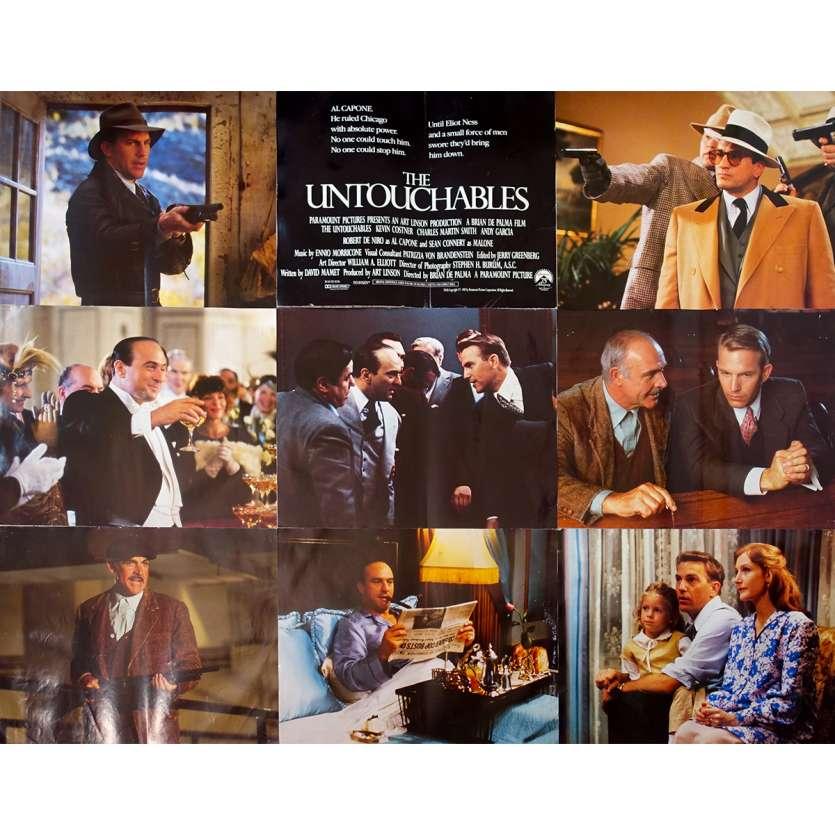 THE UNTOUCHABLES Original Jumbo Lobby Cards - 17x22 in. - 1987 - Brian de Palma, Kevin Costner