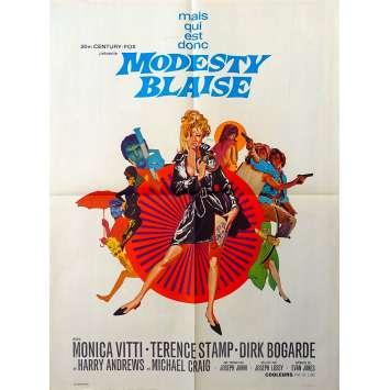 MODESTY BLAISE Affiche de film - 60x80 cm. - 1966 - Monica Vitti, Terence Stamp, Joseph Losey