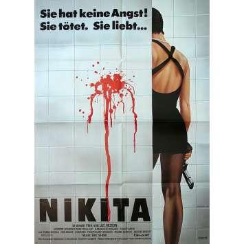 NIKITA Affiche de film - 118x83 cm. - 1990 - Anne Parillaud, Luc Besson