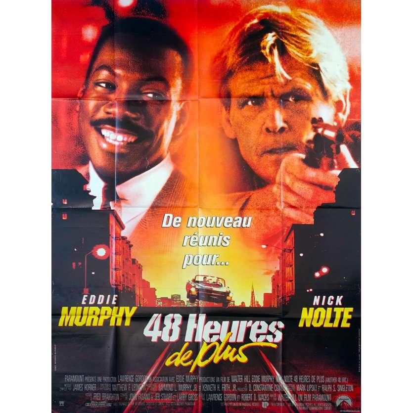 48 HEURES DE PLUS Affiche de film 120x160 - 1990 - Eddy Murphy