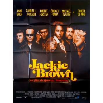 JACKIE BROWN French Movie Poster 47x63 '97 Quentin Tarantino, Pam Grier, Robert de Niro