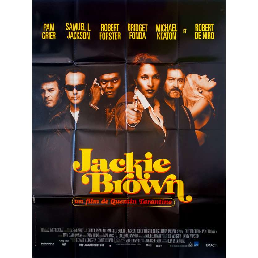 JACKIE BROWN Affiche de film 120x160 - 1997 - Quentin Tarantino, Pam Grier, Robert de Niro