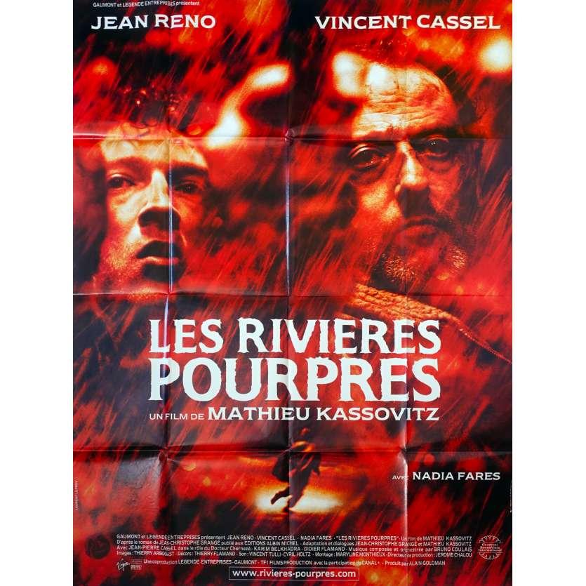 LES RIVIERES POURPRES Affiche de film 120x160 - 2000 - jean reno, Vincent Cassel