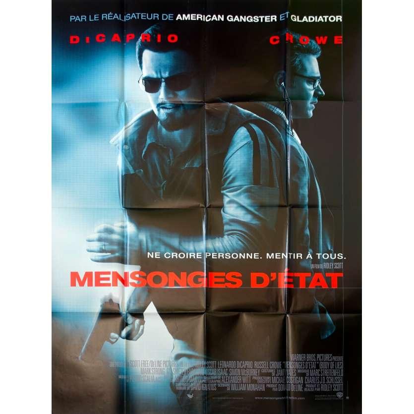MENSONGES DETAT Affiche de film 120x160 - 2008 - Di Caprio, Ridley Scott