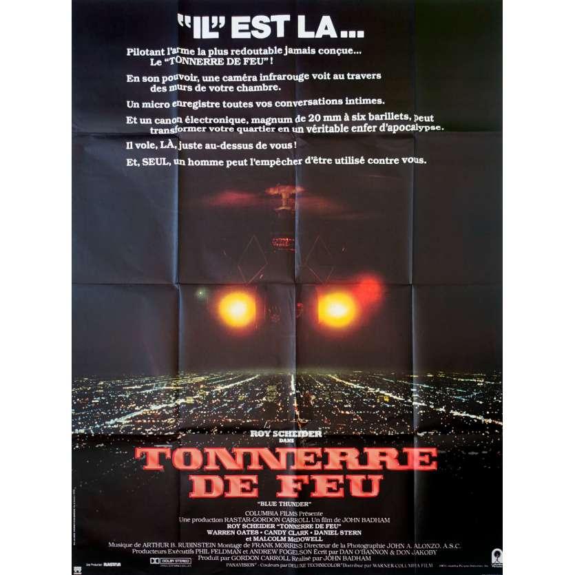 TONNERRE DE FEU Affiche de film 120x160 - 1983 - Roy Sheider