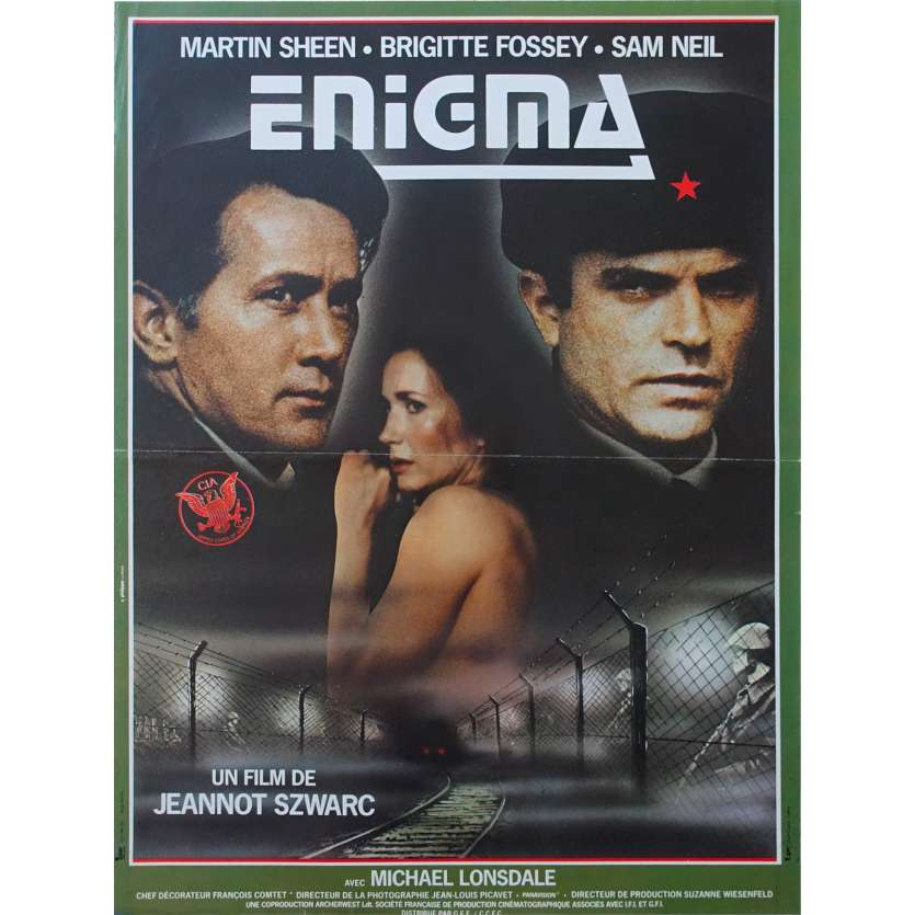 ENIGMA Movie Poster - Original French One Panel