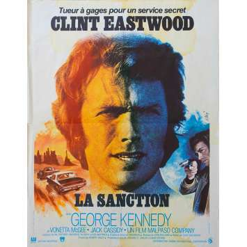 EIGER SANCTION French Movie Poster 15x21 '75 Clint Eastwood,