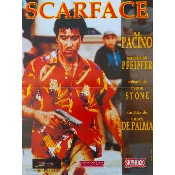 SCARFACE Affiche de film 40x60 R2004 - Al Pacino, Brian de Palma