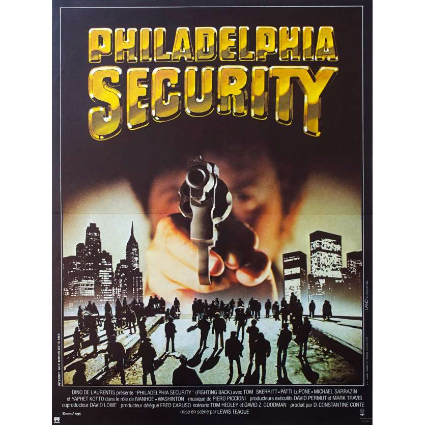 PHILADELPHIA SECURITY French Movie Poster 15x21 '82 Tom Skerritt