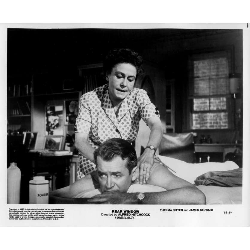 REAR WINDOW Original Movie Still 5313-4 - 8x10 in. - 1954 / R1983 - Alfred Hitchcock, James Stewart