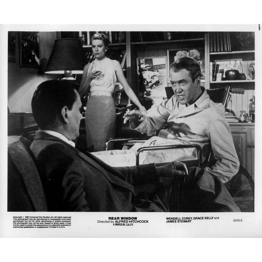 REAR WINDOW Original Movie Still 5313-3 - 8x10 in. - 1954 / R1983 - Alfred Hitchcock, James Stewart