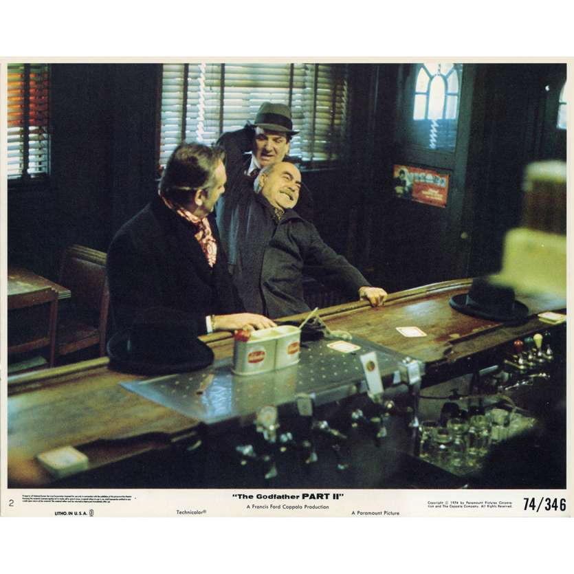 GODFATHER PART II 8x10 Lobby card N3 - 1974 - Al Pacino, Robert De Niro, Coppola