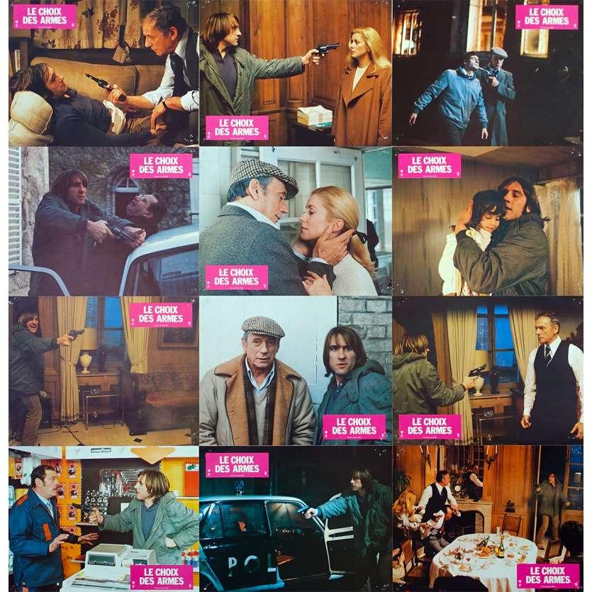 CHOIX DES ARMES Lobby Cards x12 - 1981 - Montand, Depardieu, Deneuve