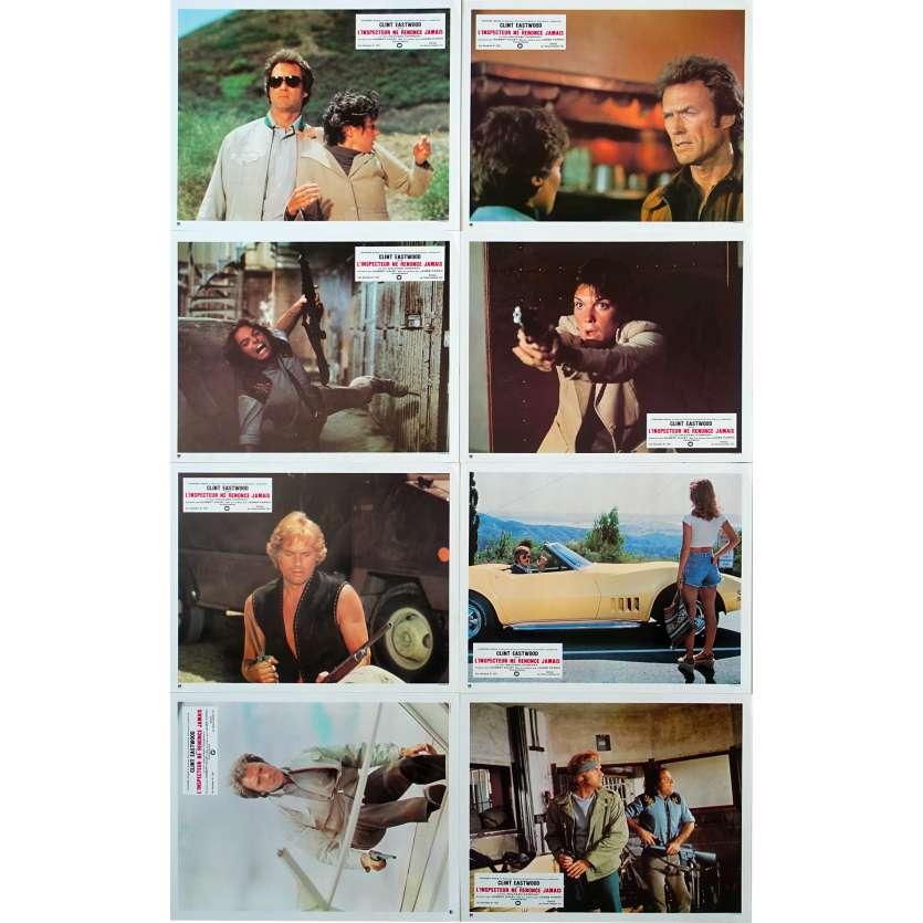 L'INSPECTEUR NE RENONCE JAMAIS Photos de film x8 - 1977 - Clint Eastwood, Dirty Harry