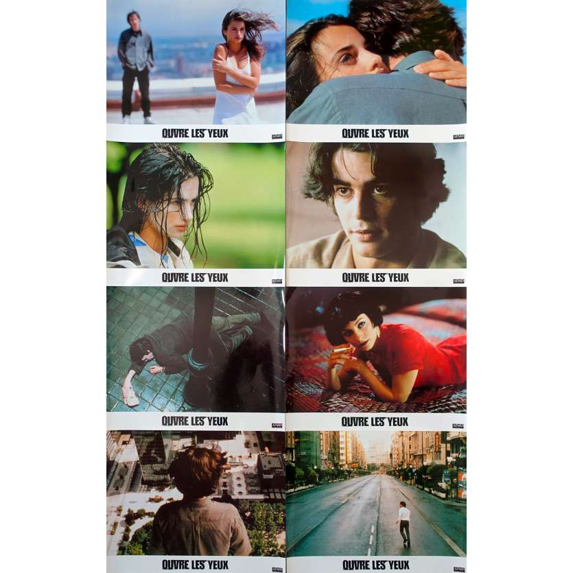 OPEN YOUR EYES French Lobby card set - 1998- Amenabar's Abre Los Ojos