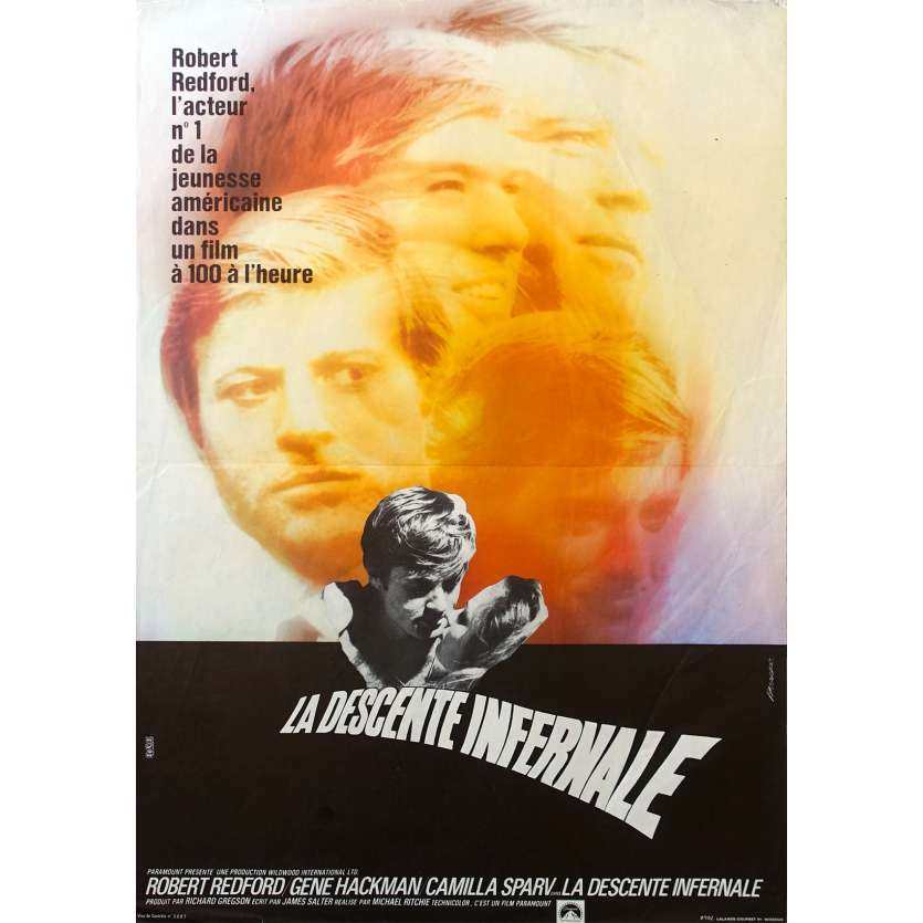 DOWNHILL RACER French Movie Poster 15x21 '69 Robert Redford