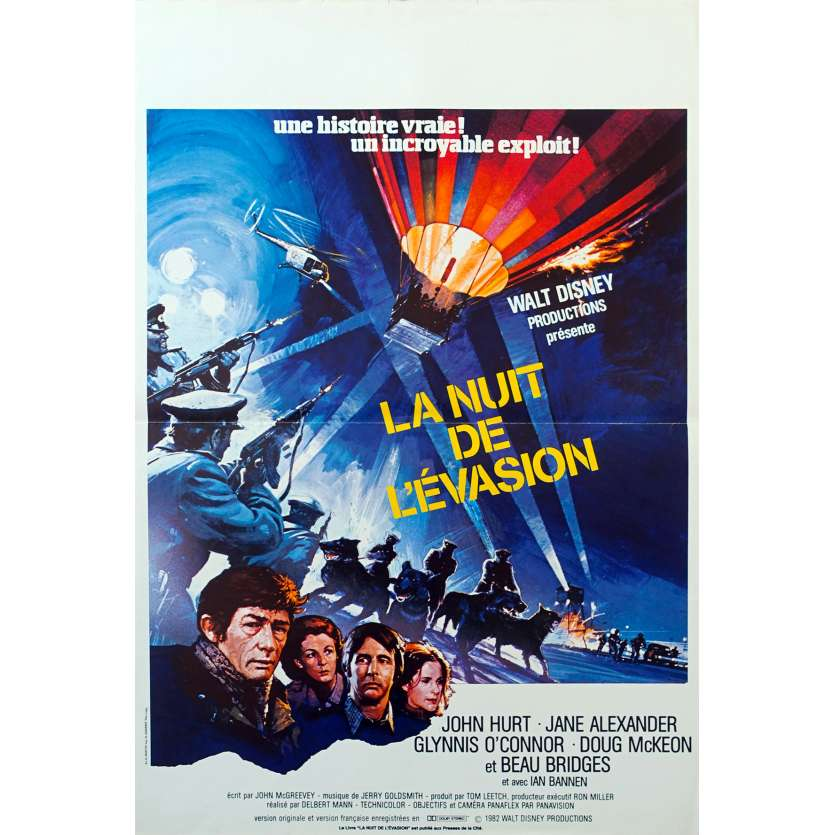 NIGHT CROSSING French Movie Poster 15x21 '82 John Hurt, Beau Bridges, Disney