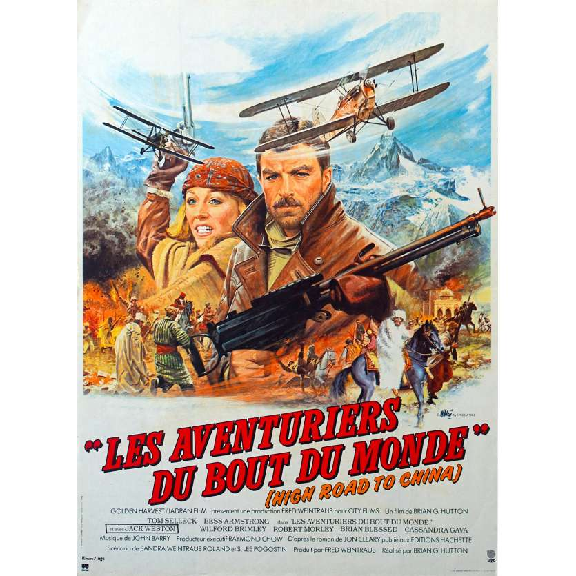HIGH ROAD TO CHINA French Movie Poster 15x21 '83 Tom Selleck