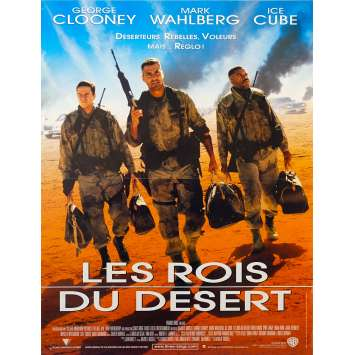 THREE KINGS French Movie Poster 15x21 '99 George Clooney, Mark Wahlberg
