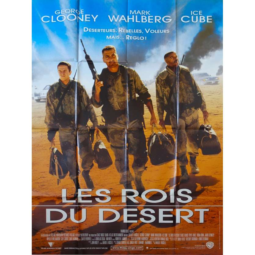 THREE KINGS French Movie Poster 47x63 '99 George Clooney, Mark Wahlberg