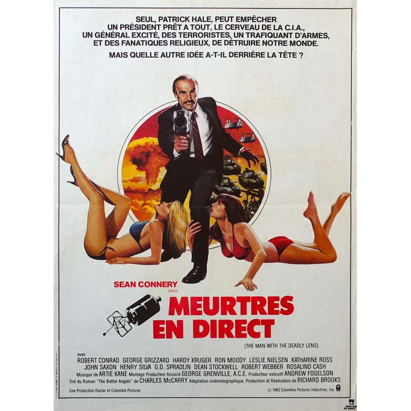 WRONG IS RIGHT French Movie Poster 15x21 '83 Sean Connery, Richard Brooks