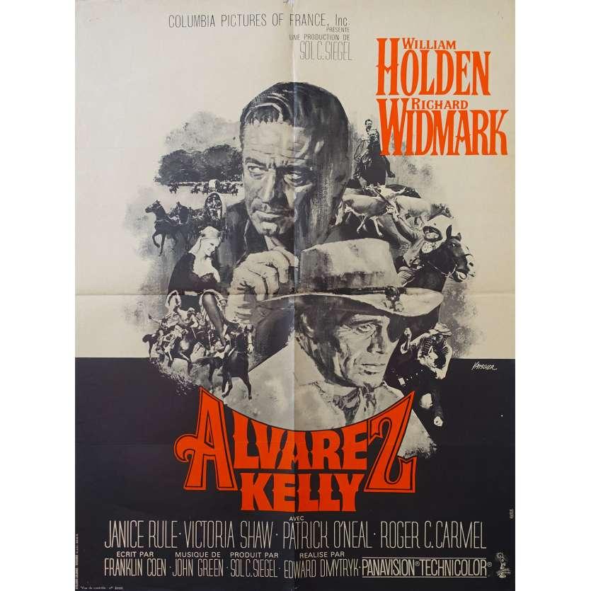 ALVAREZ KELLY French Movie Poster 23x31 '66 William Holden, Richard Widmark