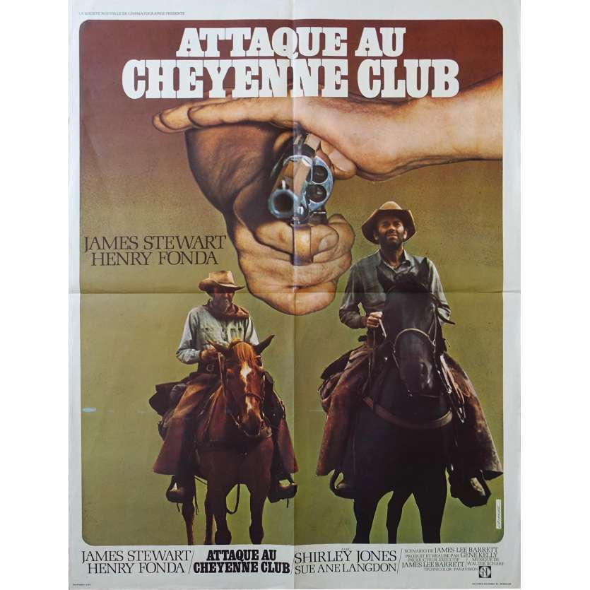 ATTAQUE AU CHEYENNE CLUB Affiche de film 60x80 - 1971 - Henry Fonda, James Stewart