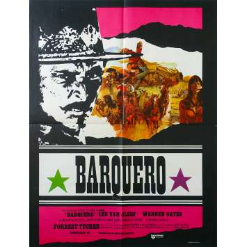 BARQUERO Affiche de film 60x80 - 1970 - Lee Van Cleef, Warren Oates