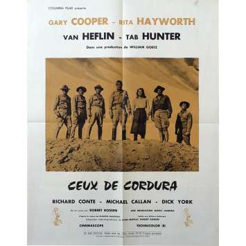 CEUX DE CORDURA Affiche de film 50x65 - 1959 - Gary Cooper, Rita Hayworth