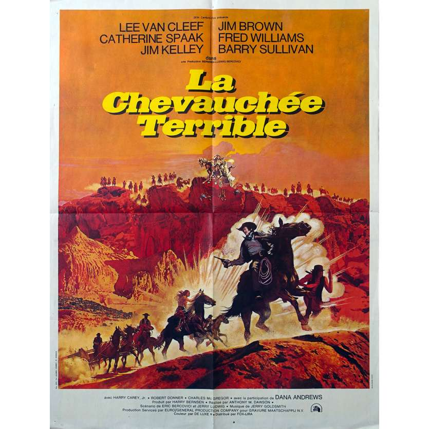 TAKE A HARD RIDE French Movie Poster 23x31 '75 Lee Van Cleef, Jim Brown
