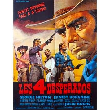 LES 4 DESPERADOS Affiche de film - 60x80 cm. - 1969 - Ernest Borgnine, Lucio Fulci