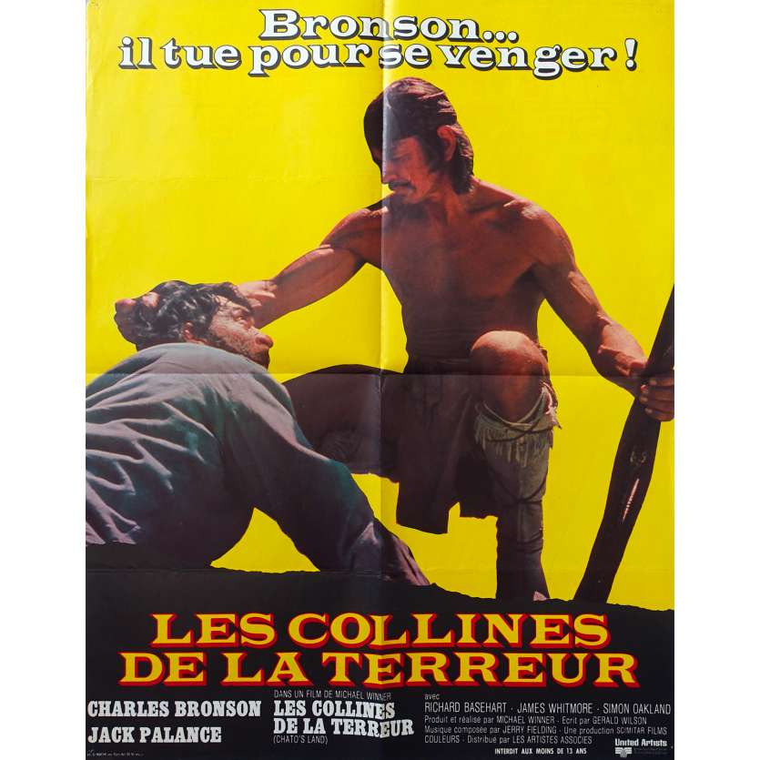 CHATO'S LAND French Movie Poster 23x31 '72 Charles Bronson, jack Palance