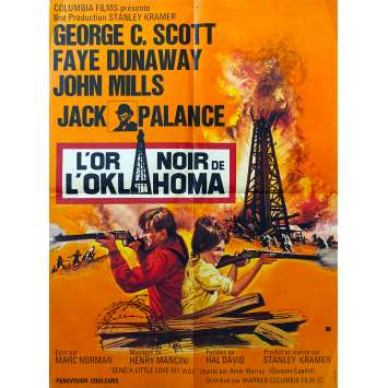 OKLAHOMA CRUDE French Movie Poster 23x31 '73 Faye Dunaway, Jack Palance