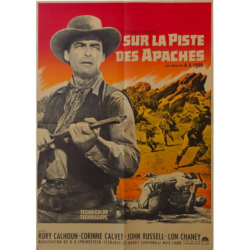 APACHES UPRISING French Movie Poster 23x31 '65 Springsteen