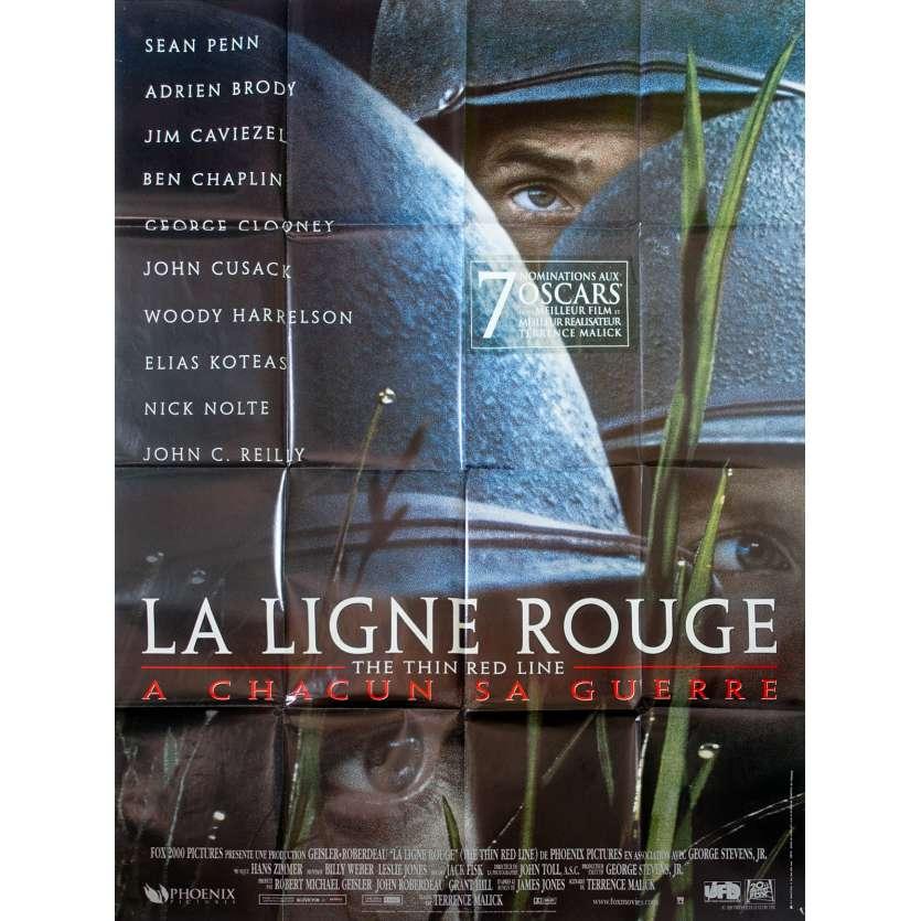 LA LIGNE ROUGE Affiche de film 120x160 - 1998 - Terrence Malick, Sean Penn