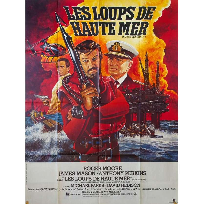 LES LOUPS DE HAUTE MER Affiche de film 120x160 - 1980 - Roger Moore, James Mason